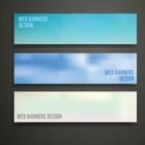 Het ontwerp van Webbanners Stock Foto