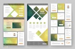 Het ontwerp van het websitemalplaatje met interfaceelementen Royalty-vrije Stock Fotografie