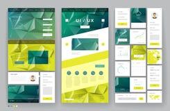 Het ontwerp van het websitemalplaatje met interfaceelementen stock illustratie