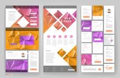 Het ontwerp van het websitemalplaatje met interfaceelementen vector illustratie