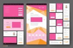 Het ontwerp van het websitemalplaatje met interfaceelementen royalty-vrije illustratie