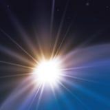 Het ontwerp van zonstralen Stock Afbeeldingen