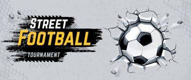 Het Ontwerp Vectorillustratie van de straatvoetbal royalty-vrije stock afbeelding