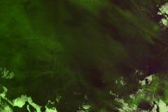 Het ontwerp verouderde groen willekeurig geschilderd canvas, stof met de vlekken van de kleurenverf en vlekkentextuur voor gebrui stock afbeeldingen