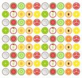 Het ontwerp vlak pictogram van het fruitpatroon Stock Foto
