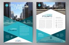 Het ontwerpa4 malplaatje van de bedrijfsbrochurevlieger Stock Foto's