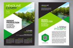 Het ontwerpa4 malplaatje van de bedrijfsbrochurevlieger Royalty-vrije Stock Afbeeldingen