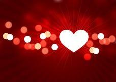 Het ontwerpachtergrond van de Dag van de romantische hartenValentijnskaart Royalty-vrije Stock Afbeeldingen