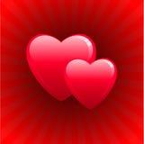 Het ontwerpachtergrond van de Dag van de romantische hartenValentijnskaart Stock Fotografie