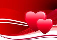 Het ontwerpachtergrond van de Dag van de romantische hartenValentijnskaart Royalty-vrije Stock Fotografie
