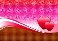 Het ontwerpachtergrond van de Dag van de romantische hartenValentijnskaart Royalty-vrije Stock Foto's
