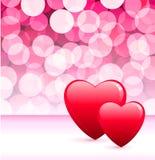 Het ontwerpachtergrond van de Dag van de romantische hartenValentijnskaart Stock Foto's