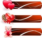 Het ontwerpachtergrond van de Dag van de romantische Valentijnskaart Royalty-vrije Stock Foto