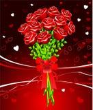 Het ontwerpachtergrond van de Dag van de romantische Valentijnskaart Stock Foto's