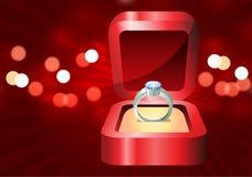Het ontwerpachtergrond van de Dag van de Valentijnskaart van de diamant Stock Foto