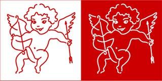 Het ontwerpachtergrond van de Dag van de Valentijnskaart van de Engel van de Cupido Royalty-vrije Stock Foto