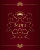 Het ontwerpachtergrond van het menu Royalty-vrije Stock Afbeeldingen