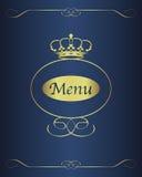 Het ontwerpachtergrond van het menu Stock Foto
