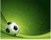 Het ontwerpachtergrond van het voetbal Stock Afbeelding