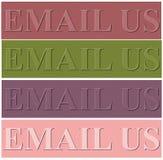 Het ontwerpachtergrond van Nice met e-mail ons werktijd vector illustratie