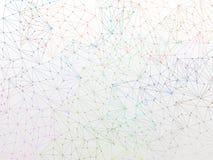 Het ontwerpbehang van moleculebackgound op wit Stock Foto's