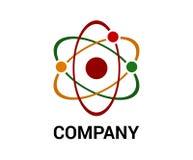 Het ontwerpconcept van het atoomembleem Stock Afbeeldingen