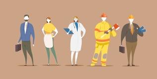 Het ontwerpconcept van het carrièrekarakter royalty-vrije illustratie