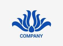 Het ontwerpconcept van het gloed blauw embleem Royalty-vrije Stock Fotografie