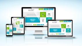 Het ontwerpconcept van het Web Vector Royalty-vrije Stock Afbeeldingen