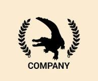 Het ontwerpconcept van het krokodilembleem Royalty-vrije Stock Afbeeldingen