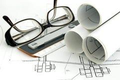Het ontwerpdocumenten van het ontwerp Stock Afbeelding