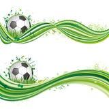 het ontwerpelement van de voetbalsport Stock Afbeelding