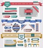 Het ontwerpelement van het Web Stock Foto's