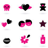 Het ontwerpelementen en pictogrammen van Emo Royalty-vrije Stock Afbeeldingen