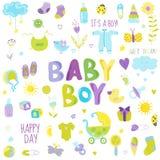 Het Ontwerpelementen van de babyjongen Stock Foto's