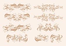 Het ontwerpelementen van de elegantie Stock Afbeelding