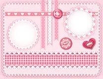 Het ontwerpelementen van de inzameling voor plakboek. Stock Afbeelding