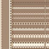 Het ontwerpelementen van de inzameling voor plakboek grenzen Stock Foto