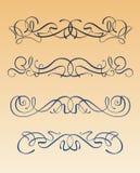 Het ontwerpelementen van de Jugendstil stock foto's