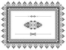 Het ontwerpelementen van de ornamentgrens met verdelers Stock Afbeelding