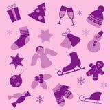 Het ontwerpelementen van de winter. Stock Foto's