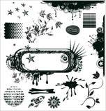 Het ontwerpelementen van Grunge in vector Stock Foto