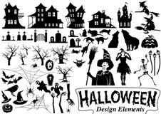 Het ontwerpelementen van Halloween stock illustratie