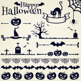 Het ontwerpelementen van Halloween Beeldverhaal polair met harten Stock Fotografie
