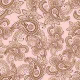 Het Ontwerpelementen van Henna Mehndi Doodles Abstract Floral Paisley, Ma Royalty-vrije Stock Afbeelding
