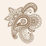 Het Ontwerpelementen van Henna Mehndi Doodles Abstract Floral Paisley, Ma Stock Foto