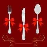 Het ontwerpelementen van het restaurant vector illustratie