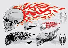 Het ontwerpelementen van het schedelprofiel Stock Afbeelding