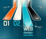 Het ontwerpelementen van het Web vector illustratie