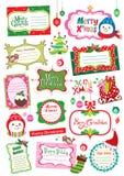 Het ontwerpelementen van Kerstmis Stock Afbeeldingen